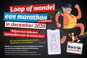 Loop of wandel een marathon in december 2020